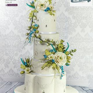 Cool As Ice  White Christmas  Wedding  cake