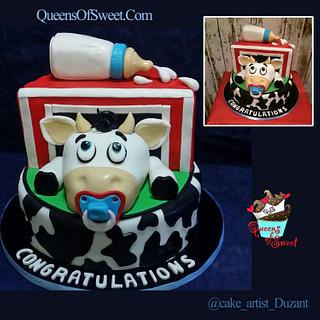 Baby Shower Cow Cake