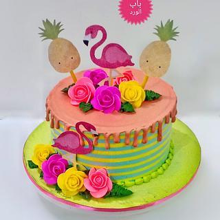 flamingo cake - Cake by Babelward
