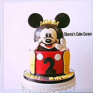 Mickey Mouse Cake  - Cake by Shorna's Cake Corner