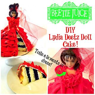 LYDIA DEETZ 'BEETLEJUICE' DOLL CAKE! - Cake by Miss Trendy Treats