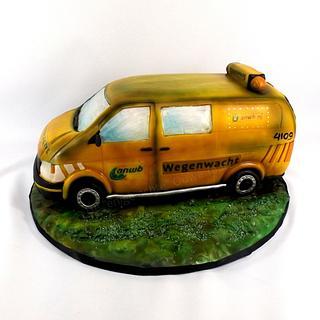 3D VW transporter cake