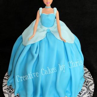 Cinderella Doll Cake - Cake by Creative Cakes by Chris