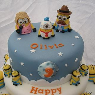 Minions from Despicable Me cake