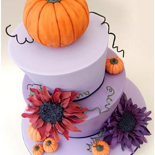 A 'Pumpkins and Purples' Wedding