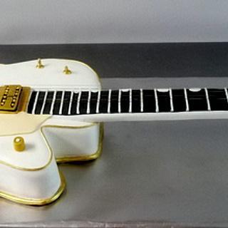 Life size Gretsch guitar cake