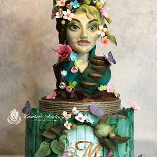 Mother Nature  - Cake by Lesi Lambert - Lambert Academy of Sugar Craft