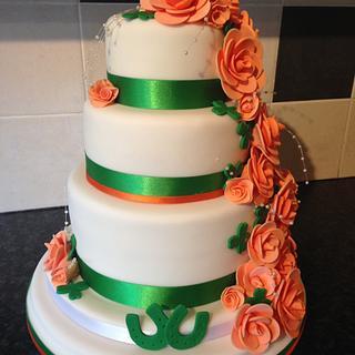 Irish themed wedding cake