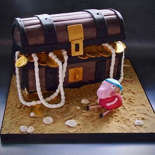 Peppa pig pirate cake