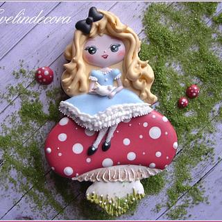 Alice in Wonderland cookie