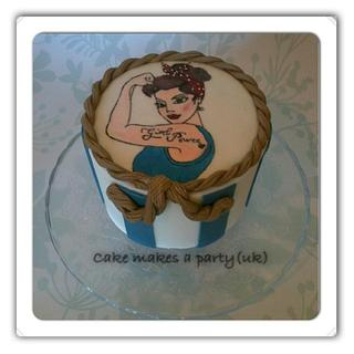 Girl power pinup cake