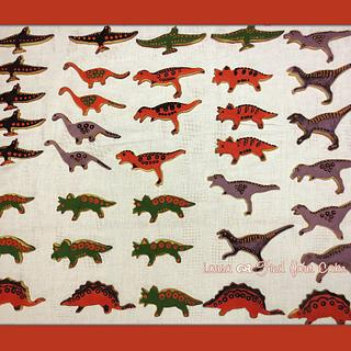 """Dinosaur cookies for a """"Jurassic party"""""""