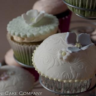 Elegant domed cupcakes