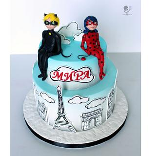 Miraculous Ladybug & Cat Noir - Cake by Antonia Lazarova