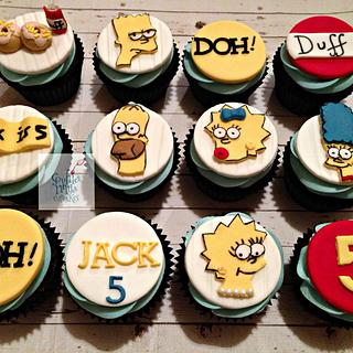 The Simpsons Inspired Cupcakes