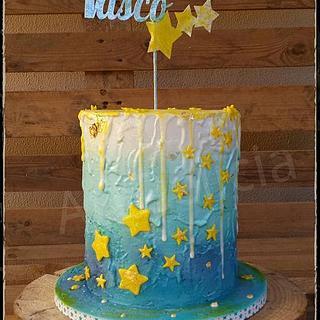 Baptism Cake - Naked Cake