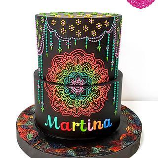Neon Mandala Cake
