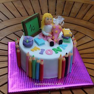 1st day at school - Cake by Adéla