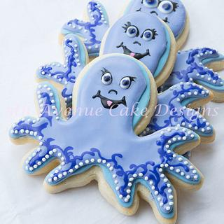 Under The Sea Octopus Cookie