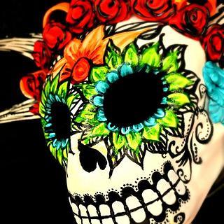 Dia de los Muertos Skull (without eyes)