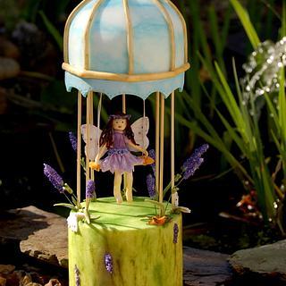 Flower Fairy Bird Cage Cake - Cake by Deeliciousanddivine
