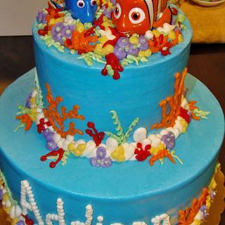 Nemo buttercream cake