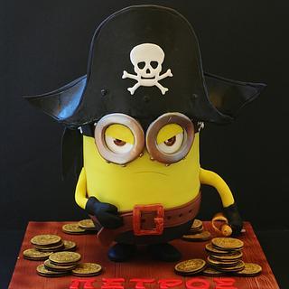 Pirate Minion  - Cake by WhenEffieDecidedToBake