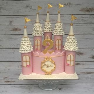 Pink castle cake  - Cake by SWEET ART Anna Rodrigues