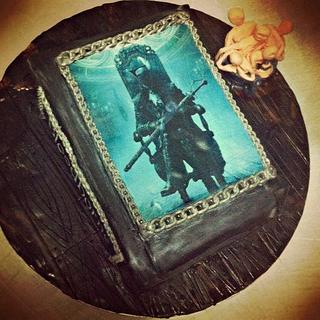 Bloodborne book cake