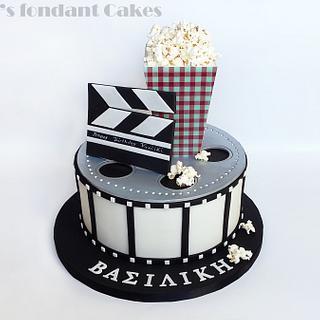 Movie reel cake - Cake by K's fondant Cakes
