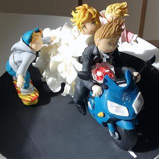 Wedding family cake topper