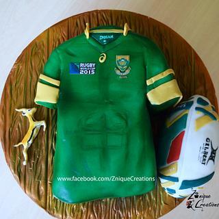 RWC 2015 Rugby Jersey Cake