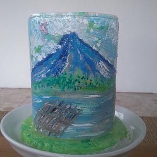 Cake painting  - Cake by Daniel Guiriba
