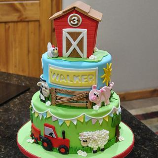 Farm Cake for First Birthday
