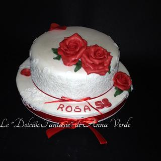 Red rose.. - Cake by Dolci Fantasie di Anna Verde