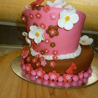 Topsy Turvy Wonky Tonky Cake