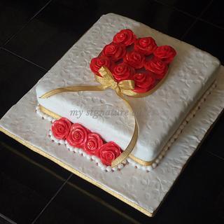 Red Rose cake. - Cake by MySignatureCakes