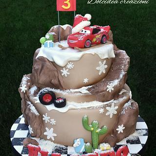 Cars Christmas Race - Cake by Dolcidea creazioni