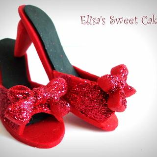Red Shoes Cake Topper