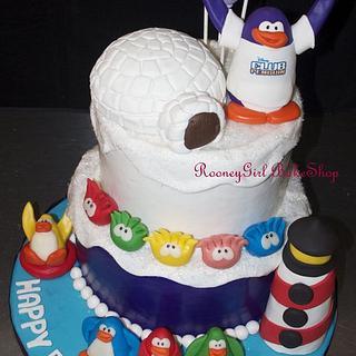 Club Penguin Birthday Cake