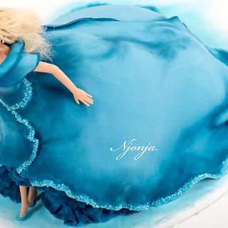 Cinderella barbie cake