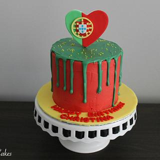 Portugal Drip Cake