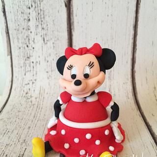 Minni Mouse Cake Topper - Cake by Leigh Medway