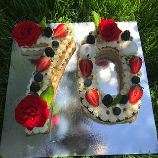 "Cake ""Numbers"" - Cake by Aleksandra Andonova"