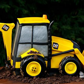 Caterpillar Construction Vehicle - Cake by kingfisher