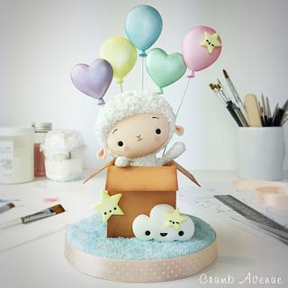 Little Lamb Cake Topper - Cake by Crumb Avenue