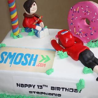 Smosh Food Wars Cake with matching cookies