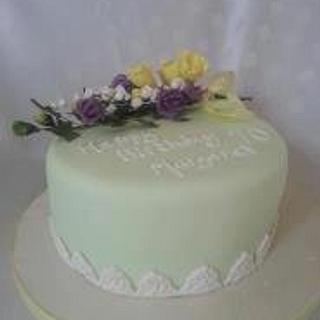 Sugar flowers  - Cake by Carole's Cakes