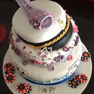 sailor and shoe joint birthday cake