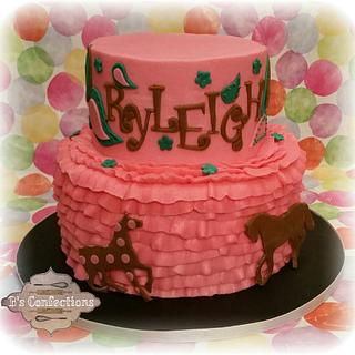 paisley horses - Cake by bconfections